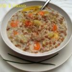 Zuppa di segale, miglio e carote